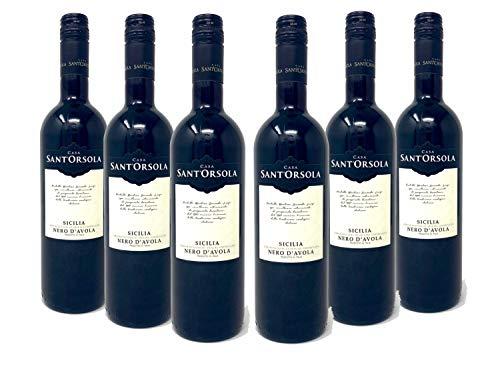 Sant'Orsola Nero d'Avola D.O.C. Sizilien Rotwein 6 Flaschen Nero d'Avola...