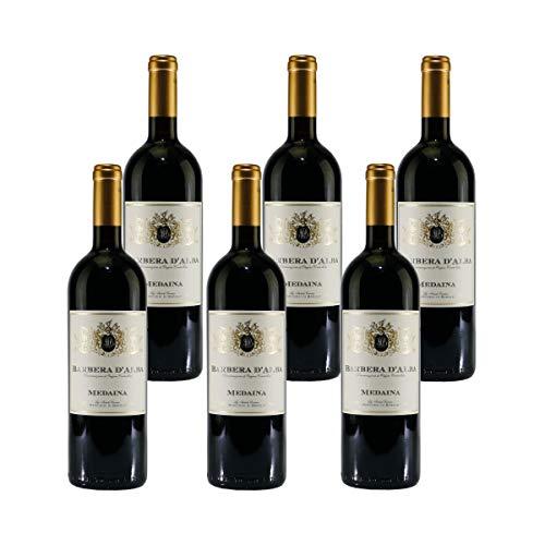 Medaina Barbera d'Alba DOC Italienischer Rotwein (6 x 0,75L)