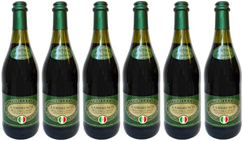 Lambrusco rosso dolce Gualtieri Dell`Emilia IGT (6 X 0,75 L) - Vino...