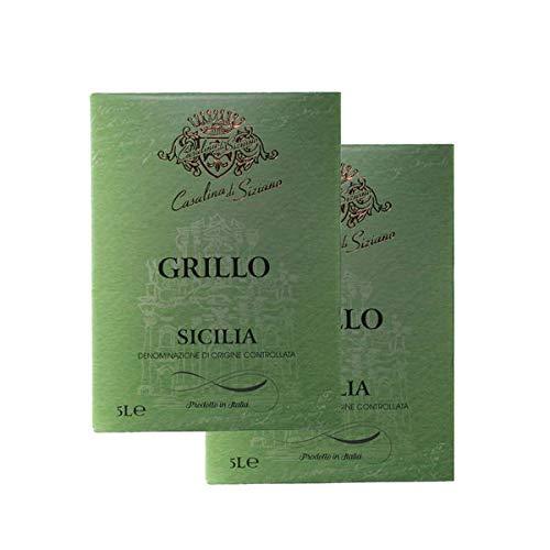 Weißwein Italien Grillo Siciliane Bag-in Box trocken (2x5,0L)