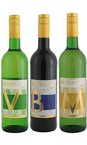 FreiWein alkoholfreier Wein Probierpaket - Trockener Weißwein & Rotwein...
