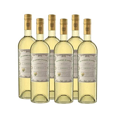 Doppio Passo Grillo Sizilien, Weißwein Italien (6 x 0,75l)