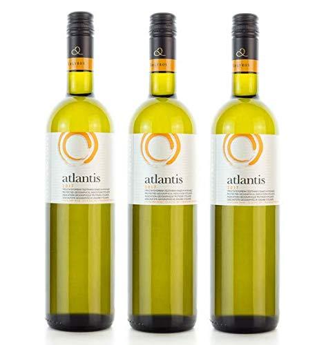 3x 750ml Atlantis Weißwein trocken knackig frisch Santorini Argyros...