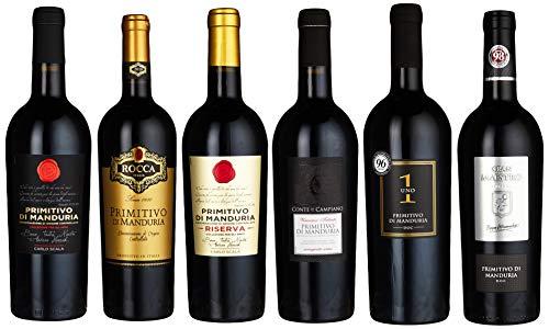 Probierpaket Primitivo di Manduria DOC Weinpaket mit italienischem Rotwein...