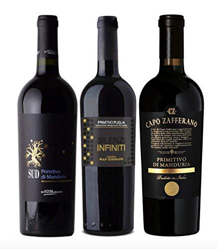 3er Probierpaket Primitivo zum Kennenlernen | hochwertige Rotweine aus...