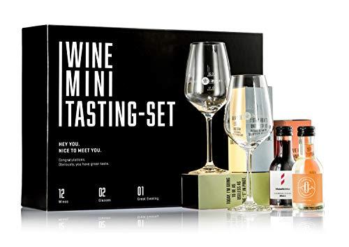 GEILE WEINE Wein Mini Tasting Set (12 x 0,1) Deutscher Weisswein, Rotwein...