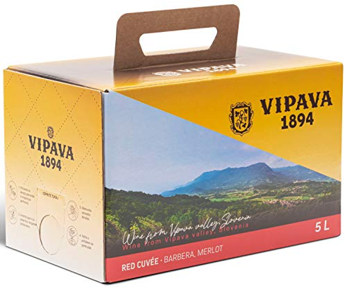 Vipava 1894 Rotwein Bag in Box 5 Liter Rotwein Karton 5 L Cuvee rot –...
