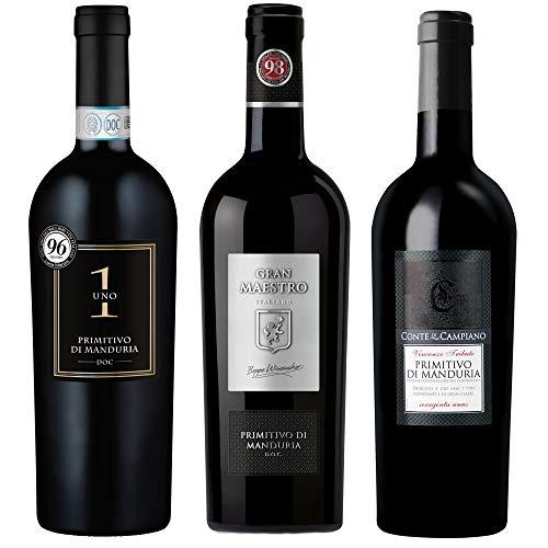 Probierpaket Weingenuss Primitivo di Manduria DOC   Weinpaket mit...