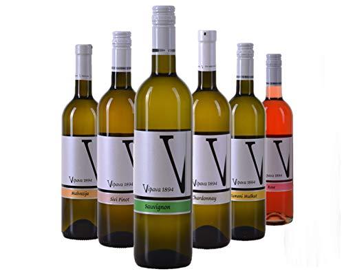 VIPAVA 1894 Weißwein Probierpaket: White Label Weine (Gelber Muskateller,...