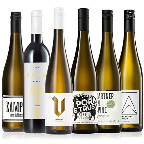GEILE WEINE Weinpaket Weißwein (6 x 0,75) Probierpaket mit Weisswein von...