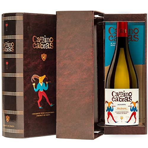 CAMINO DE CABRAS Box mit 1 Flasche Weißwein albariño Gourmet D.O. Rias...