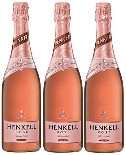 Henkell Rosé Sekt, Trocken, 12% Alkohol (3 x 0,75 l Flaschen) – Cuvée...