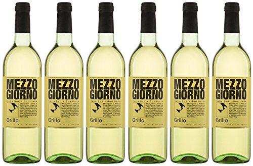 Mezzogiorno Grillo IGT Weißwein Bio trocken (6 x 0.75 l)