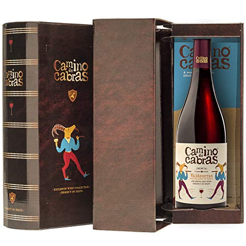 CAMINO DE CABRAS Box mit 1 Flasche Rotwein Mencia Gourmet D.O.Valdeorras -...