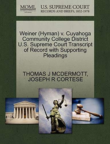Weiner (Hyman) V. Cuyahoga Community College District U.S. Supreme Court...