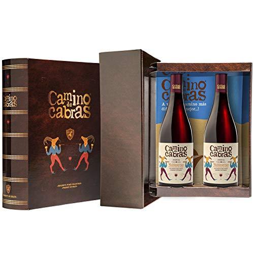 CAMINO DE CABRAS Box mit 2 Flasche rotwein Mencia Gourmet D.O.Valdeorras -...