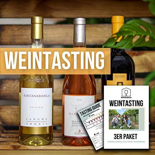 Wein Tasting Set 3er Paket | Home Tasting mit Videobegleitung | Online...