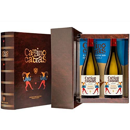 CAMINO DE CABRAS Box mit 2 Flasche Weißwein albariño Gourmet D.O. Rias...