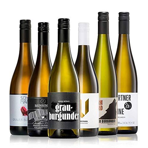 GEILE WEINE Weinpaket GRAUBURGUNDER (6 x 0,75) Probierpaket mit...