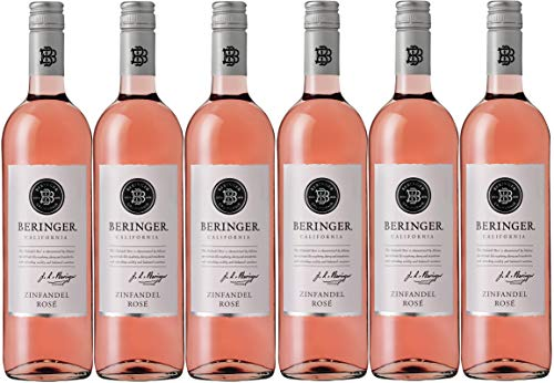 Beringer Classic Zinfandel Rose 2019 lieblich Kalifornien Wein (6 x 0.75 l)