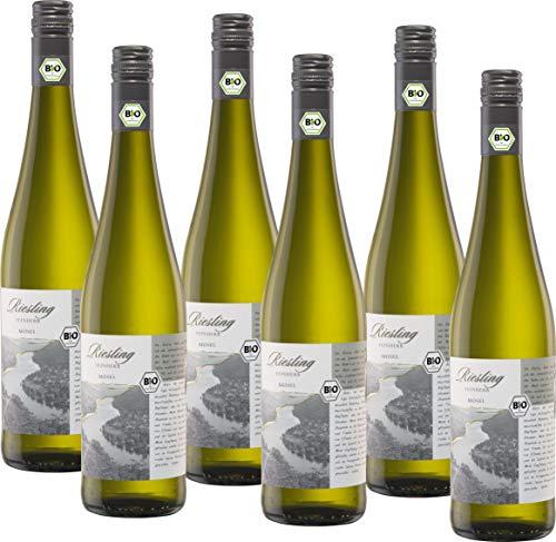 Bio mit Gesicht Weißwein Riesling feinherb Qualitätswein von der Mosel,...