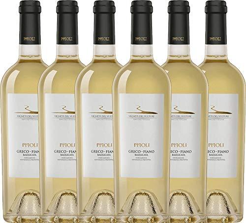 VINELLO 6er Weinpaket Weißwein - Pipoli Greco Fiano IGT 2019 - Vigneti del...